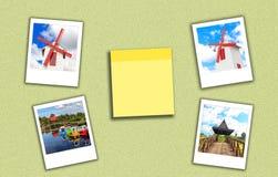 Série et notule de campagne Images stock