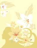 Série floral do fundo Fotografia de Stock
