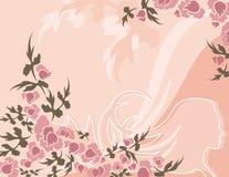 Série floral do fundo ilustração stock