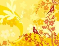 Série floral do fundo do pássaro Imagem de Stock Royalty Free