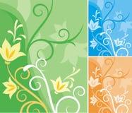 Série florale de fond Photos stock