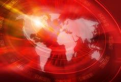 Série global 13 do conceito do fundo da conexão Imagem de Stock Royalty Free