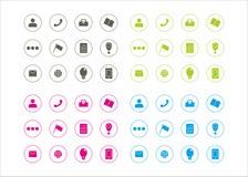 Série gráfica 1 do vetor do molde do círculo dos recursos dos ícones Foto de Stock