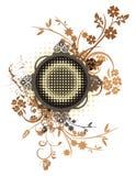 Série grunge florale de trame Images libres de droits