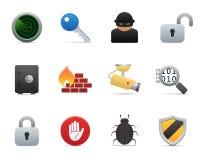 Série > ícones lisos da segurança Foto de Stock