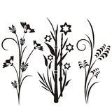 Série japonesa do projeto floral ilustração royalty free