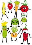 Série : les fruits et légumes gais Photo stock