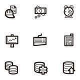 Série lisa do ícone - negócio Fotos de Stock
