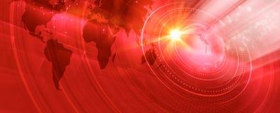 Série numérique moderne graphique de concept de bannière du monde illustration de vecteur
