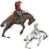 Série occidentale d'illustration Photos stock