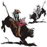 Série occidentale d'illustration Photo stock
