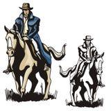 Série occidentale d'illustration Images libres de droits