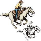 Série ocidental da ilustração Fotografia de Stock Royalty Free