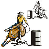 Série ocidental da ilustração Fotos de Stock
