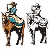 Série ocidental da ilustração Fotografia de Stock