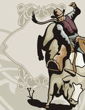Série ocidental do fundo ilustração do vetor