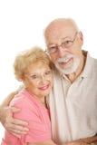 Série optique - couples aînés heureux Images libres de droits