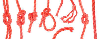 Série orange de corde Images stock