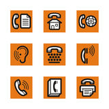 Série orange de graphisme Image libre de droits