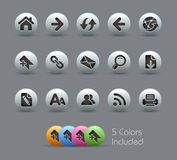 Série Pearly de // dos ícones da navegação do Web Imagens de Stock Royalty Free