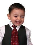 Série pequena do homem: Sorrir forçadamente dos vendedores Fotos de Stock