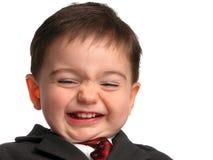 Série pequena do homem: Sorriso ácido da salmoura foto de stock