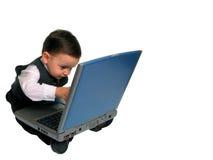 Série pequena do homem: Verific o email? Imagens de Stock