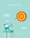 Série plate de caractère d'affaires Concept de cible d'affaires Photographie stock libre de droits