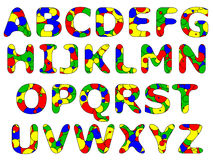 Série primaire d'alphabet Photos libres de droits