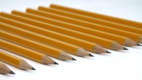 Série rítmica de close-up dos lápis filme