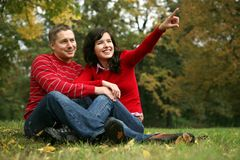 série romantique de couples Photographie stock