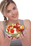 Série saine de style de vie - bol de salade de fruits Images stock