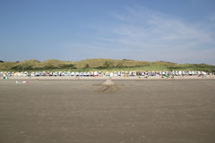 Série sans fin de huttes de plage Photographie stock