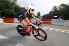 Série Team Time Trials da estrada da celebração de Singapura Fotos de Stock Royalty Free
