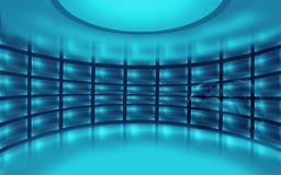 Série vazia abstrata do conceito do espaço do estúdio 3D Fotografia de Stock Royalty Free