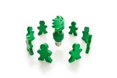 Série verte allante Photo libre de droits