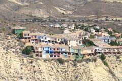 Séries de Acantilado do povoado indígeno, Alicante, costa da Espanha Foto de Stock Royalty Free