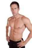 Sérieux sans chemise d'homme Photo libre de droits