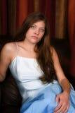 Sério formal azul Fotos de Stock Royalty Free