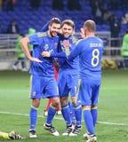 Sérvia amigável de Ucrânia v do jogo em Kharkiv Fotografia de Stock