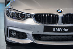 Sérvia; Belgrado; 2 de abril de 2017; Máscara de BMW 4 séries; o 53rd Fotografia de Stock Royalty Free