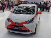 Sérvia; Belgrado; 2 de abril de 2017; Parte anterior de Toyota Aygo;  Imagem de Stock Royalty Free