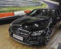Sérvia; Belgrado; 29 de março de 2017; Mercedes-Benz AMG E43; A 53rd exposição automóvel internacional em Belgrado do 24 de março Fotografia de Stock