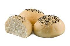 sésame frais de roulis de pain Photo stock