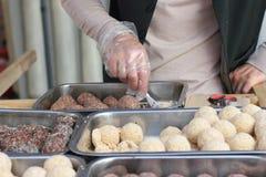 Sésame oriental de bonbons Photographie stock libre de droits