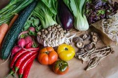 Sétimo grupo de vegetais selecionados da qualidade e de um outro alimento Imagem de Stock Royalty Free