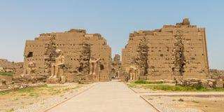 Sétimo pilão do templo de Amun, Karnak, Luxor, Egito fotografia de stock