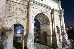 Sétimo severo do arco em Roma Imagem de Stock Royalty Free