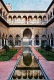 Séville, Alcazar Patio de las Doncellas réel Image libre de droits