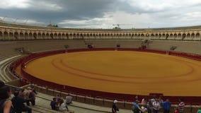 Séville, Andalousie, Espagne - 18 avril 2016 : La vrai Maestranza de Plaza de Toros De clips vidéos